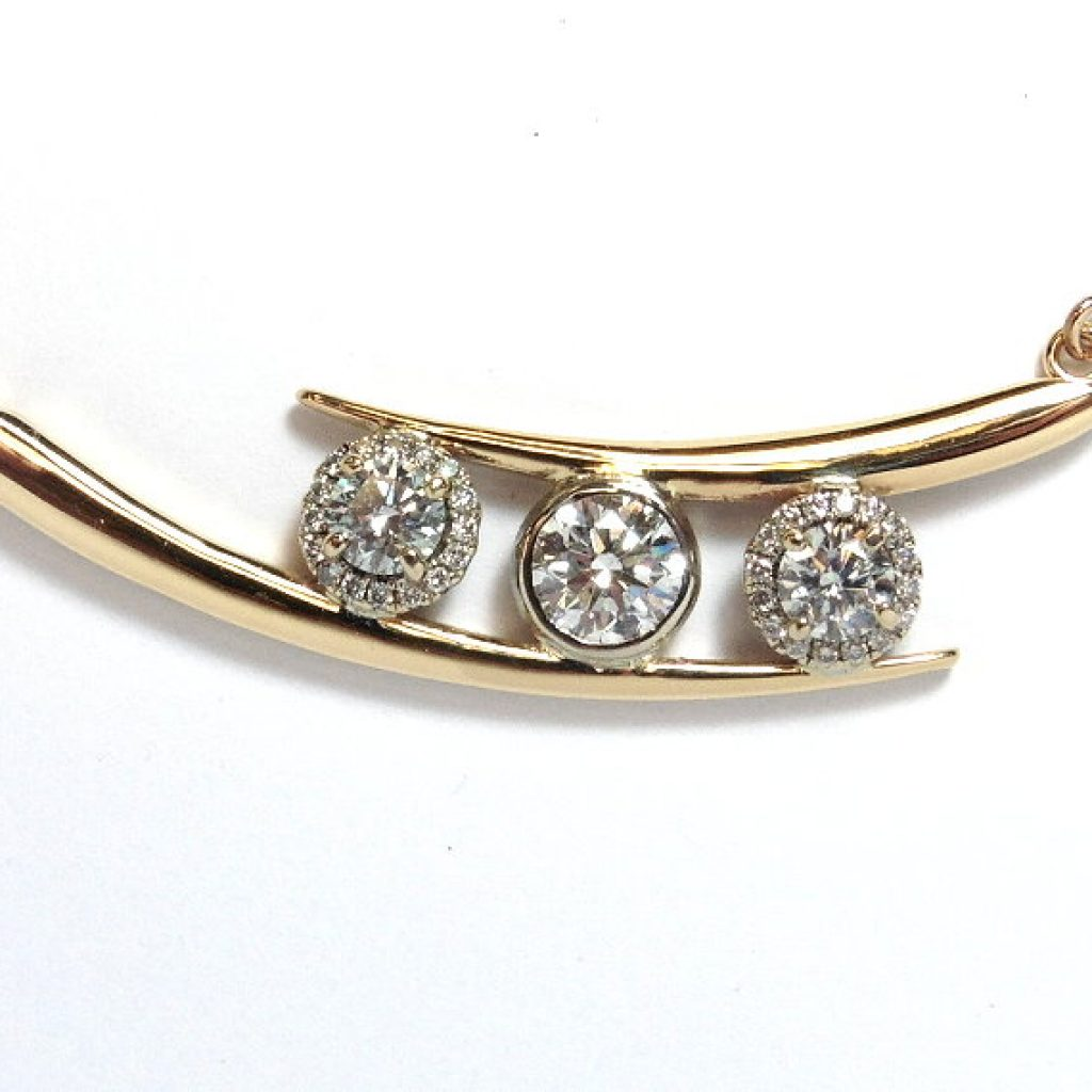 An image of a diamond necklace redesign at Conger's Jewellers - jewellery redesign