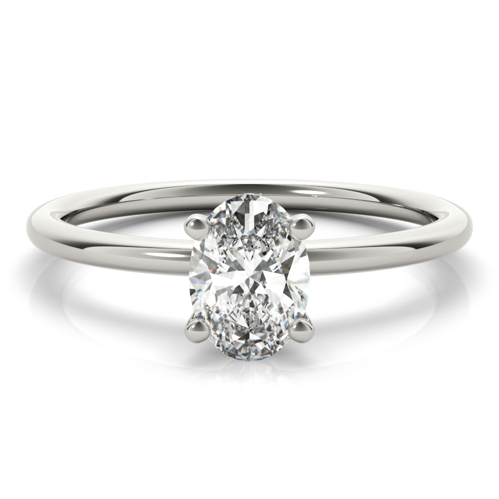 Oval solitaire engagement ring OV85164