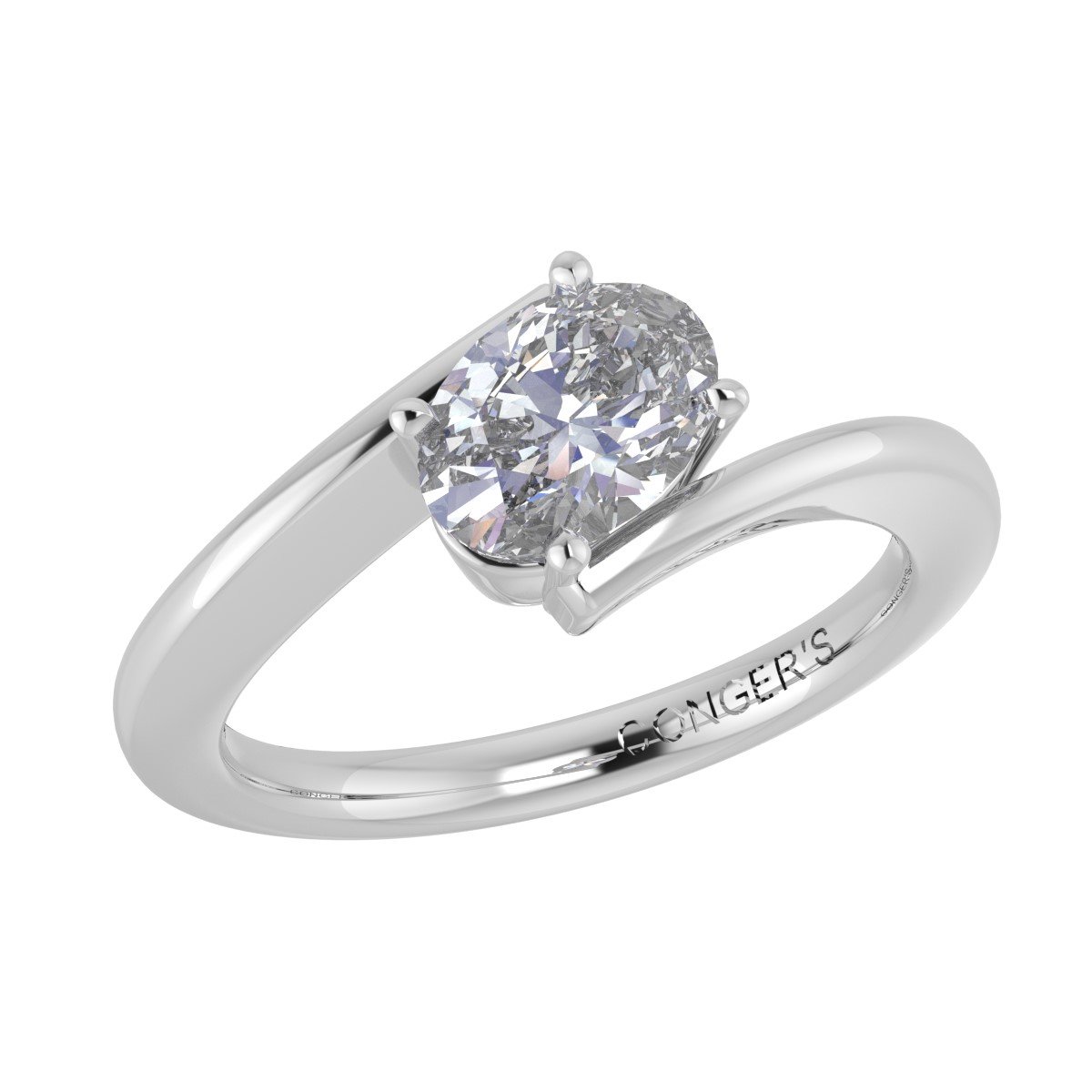 Conger's Signature Oval Bypass Engagement Ring