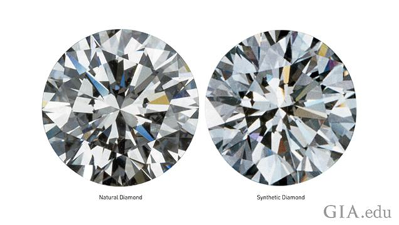 Images of natural and mined diamonds. Photo by GIA